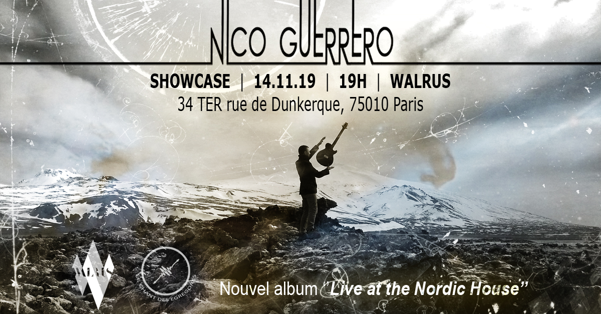 Nico Guerrero / Showcase @ Walrus Café, Paris / Nov. 14 2019